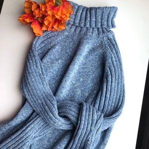 3/$30 Cherokee Blue Knit Turtleneck sweater medium